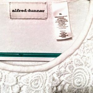 Alfred Dunner Sweaters - Crochet Overlay Top